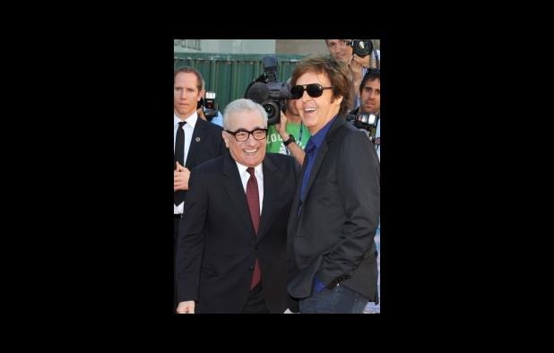 Martin Scorsese and Paul McCartney at the premiere of George Harrison: Living In The Material World